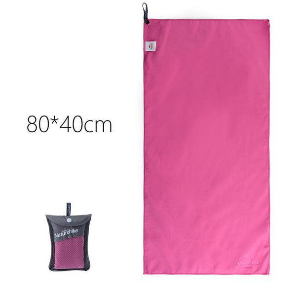 Pink Microfiber Quick Drying Travel Towels