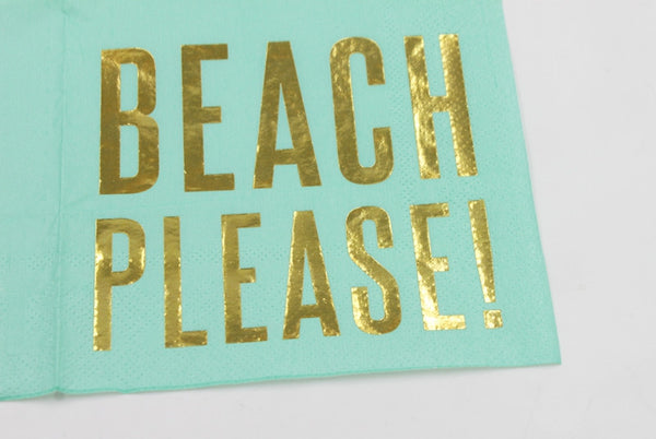 Beach Please! - Decorative Cocktail Paper Napkin Zoom In