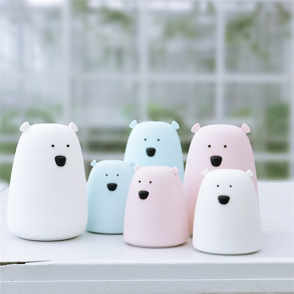 Colorful Little Polar Bear Night Light
