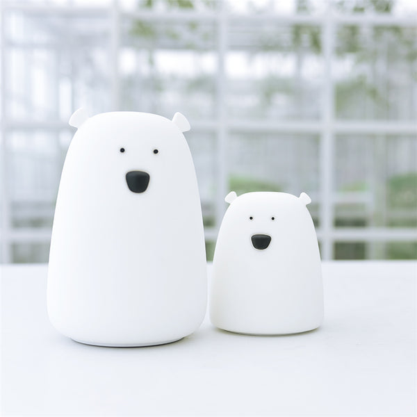 White Little Polar Bear Night Light