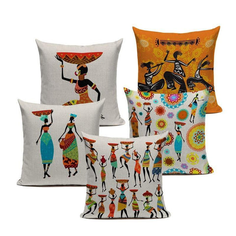 African Pillows - Decorative Cushion Cover Collection