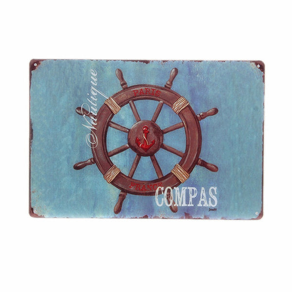 Love The Beach - Decorative Metal Sign Collection
