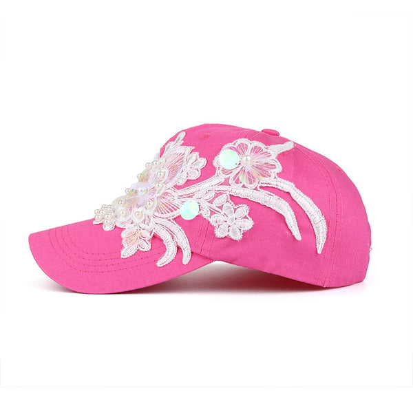 Classic Floral Embroidery Baseball Cap