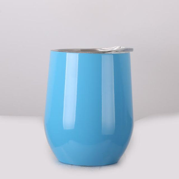 Colorful Stainless Steel Wine Tumbler with Lid