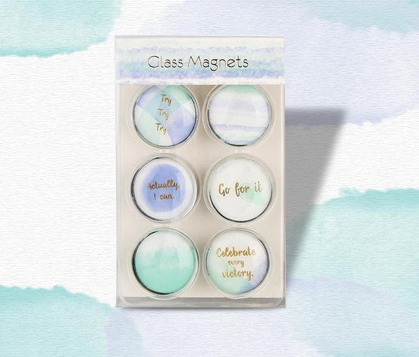 Clear Glass Magnets - Watercolor Collection - Sale US