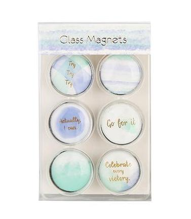 Clear Glass Magnets - Watercolor Collection