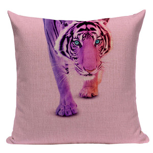 Colorful Tiger - Decorative Cushion Cover