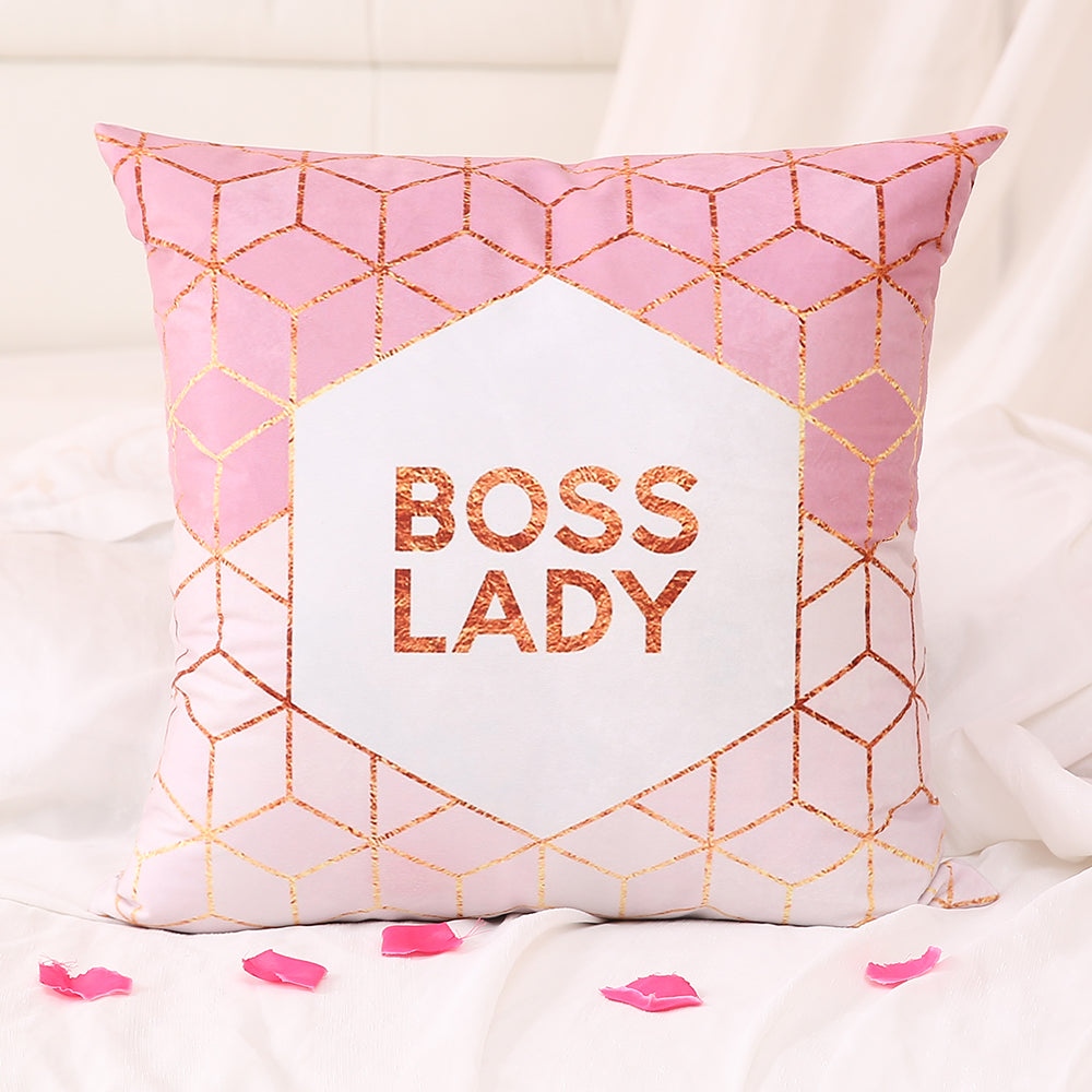 Boss Lady Light Pink - Decorative Cushion Cover