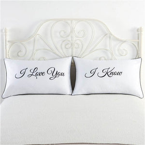 I Love You, I Know white pillowcase cover funny pillow cases