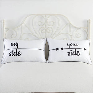 My Side, Your Side white pillowcase cover funny pillow cases