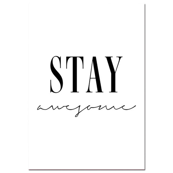 Stay Awesome Collection - Canvas Wall Art