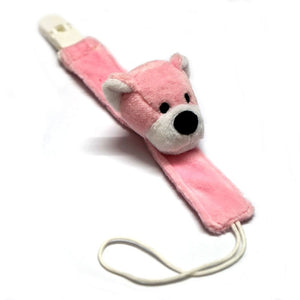 Cute Pink Bear Baby Pacifier Clip