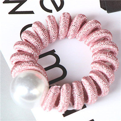 Pearl Telephone Wire / Spiral Hair Elastic
