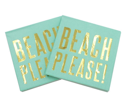 Beach Please! - Decorative Cocktail Paper Napkin