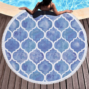 Alluring Arabesque Round Beach Towel