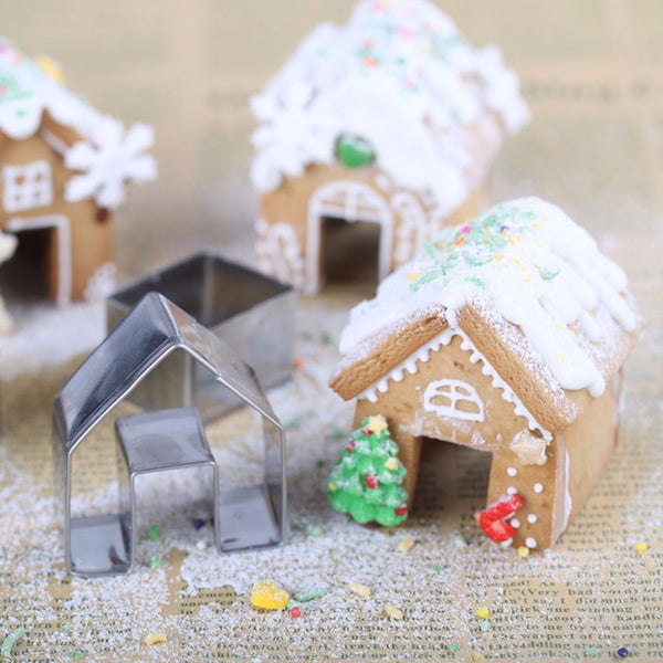 Mini Gingerbread House Cookie Cutter Set