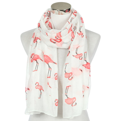 White Flamingo Scarf