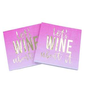 Let's Wine About It - Funny Cocktail Paper Napkin