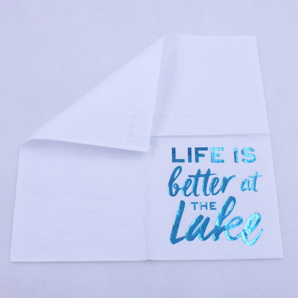 Life Is Better At The Lake - Funny Cocktail Paper Napkin
