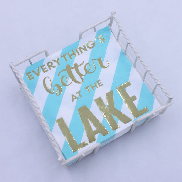 Everything's Better At The Lake - Gold Foil Paper Napkin