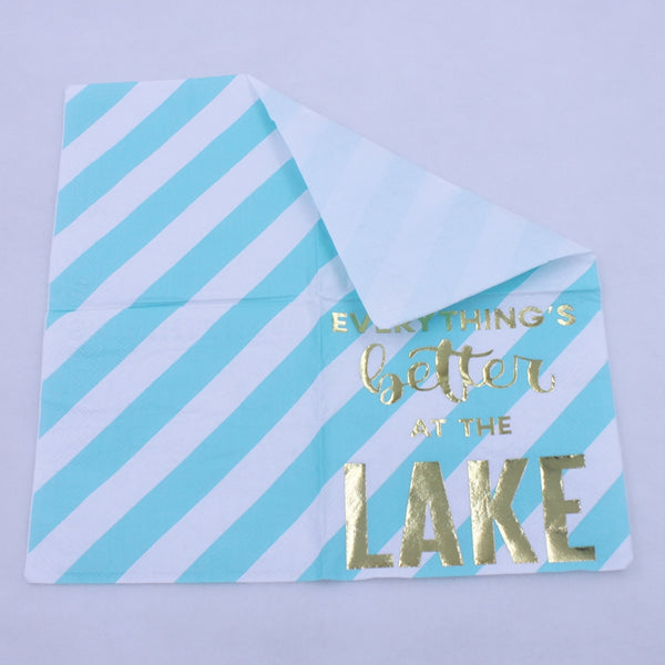 Everything's Better At The Lake - Funny Cocktail Paper Napkin
