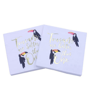 Toucans Are Better Than One - Funny Cocktail Paper Napkin