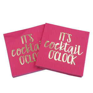 It's Cocktail O'Clock - Funny Cocktail Paper Napkin