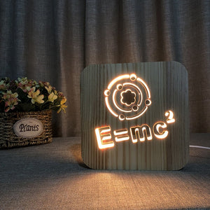 Little Genius - 3D Wooden Nightlight
