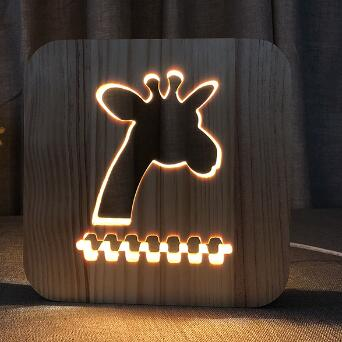 Giraffe - 3D Wooden Nightlight