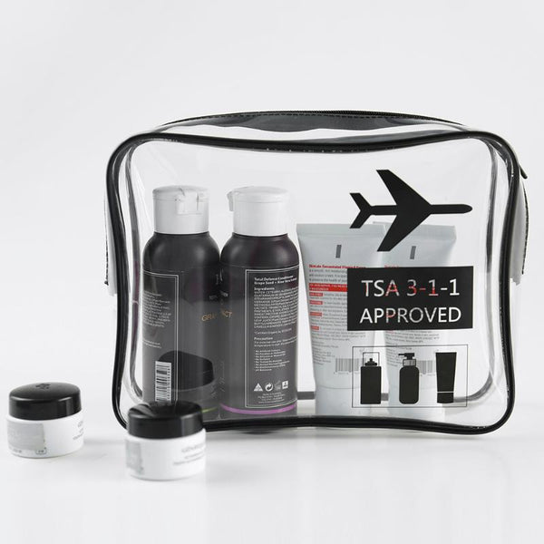 TSA 3-1-1 Approved Clear Travel Carry On Toiletry Bag