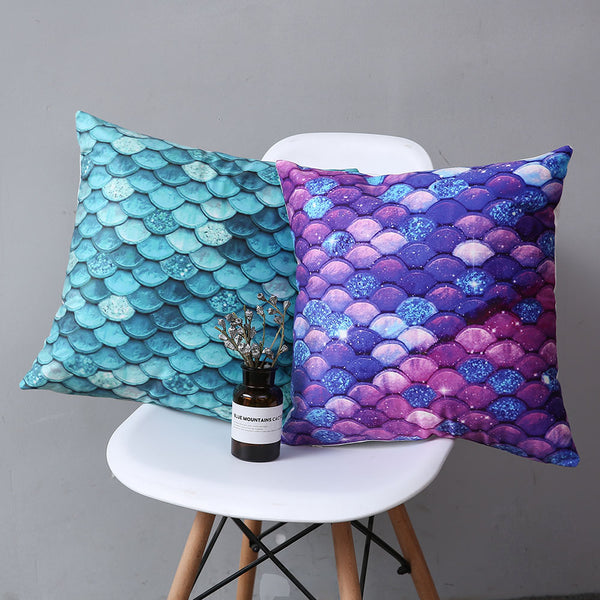 Blue Mermaid - Decorative Cushion Cover - Sale US