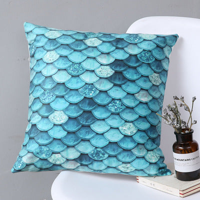 Blue Mermaid - Decorative Cushion Cover