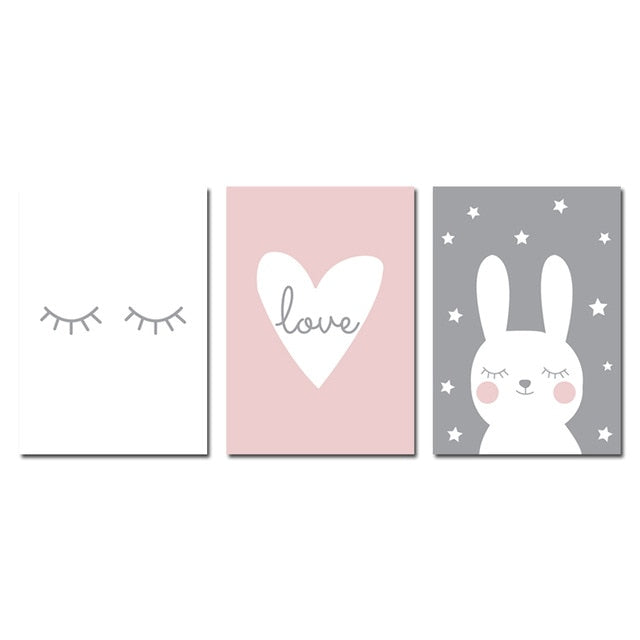 Bunny Love - Canvas Wall Art