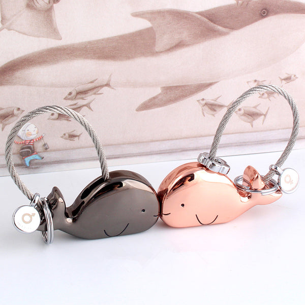 Whale Key Ring Set for Couples