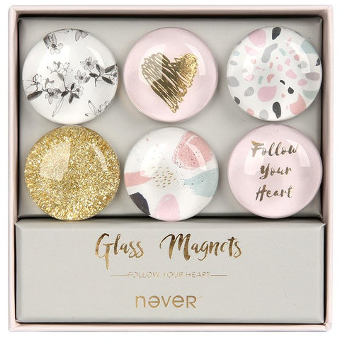 Never Glass Magnets - Follow Your Heart Series