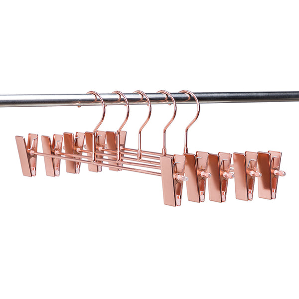 Rose Gold Clip Clothes Hangers