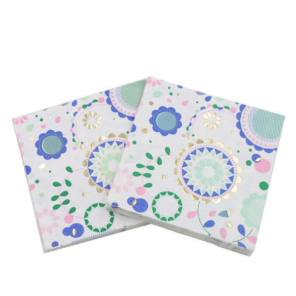 Flower Design - Decorative Cocktail Paper Napkin