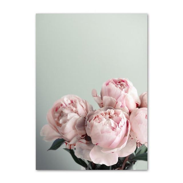 Peony Flower Canvas Wall Art