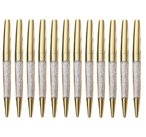 Gold Crystal Metal Pens