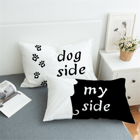 Dog Side My Side white pillowcase cover funny pillow cases