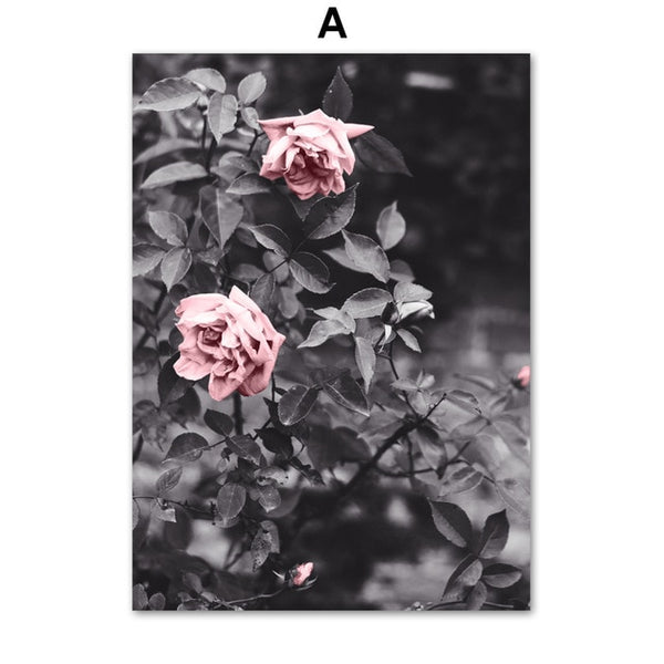 Pink Roses Canvas Wall Art