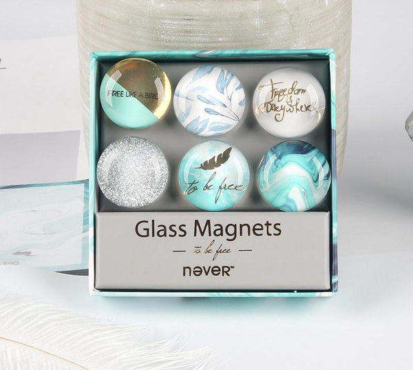 Clear Glass Magnets - Be Free Series