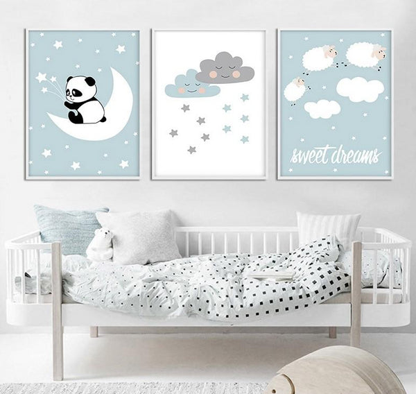 Sweet Dreams Nursery Canvas Wall Art
