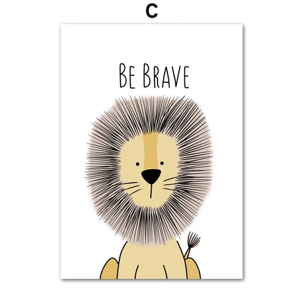 Be Brave Lion - Canvas Wall Art