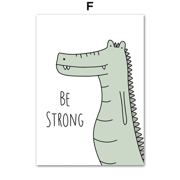Be Strong Crocodile - Canvas Wall Art