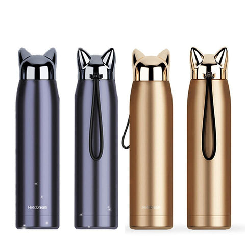 Cute Cat Stainless Steel Thermal Insulation Bottle