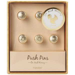 Acorn Shape Gold Metal Push Pins