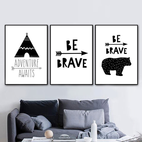 Be Brave Collection - Canvas Wall Art