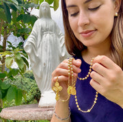 24K Gold plated Combat Rosary