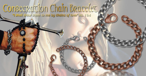 Men's Consecration Chain Bracelet - Antique Copper - Roman Catholic Gear
